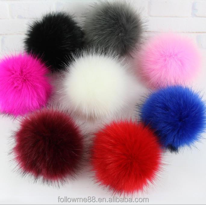 4f32f378e Big Solid Color Pom Poms Faux Fox Raccoon Fur Diy Pompom Balls For Beanie  Knitted Hats Cap - Buy Fashion Accessory Luxury Genuine Fluffy Blue Fox Fur  ...