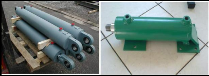 Weld Type Hydraulic Cylinders : Double acting welded ram hydraulic cylinder for dump truck