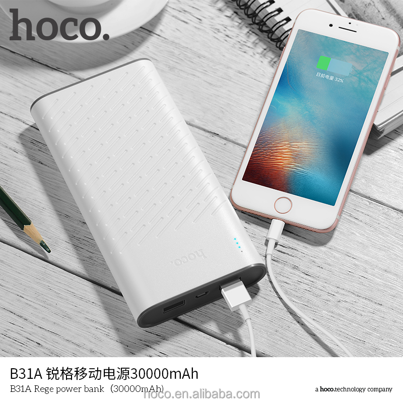 Hoco B31A Rege Power Bank 30000 mAh Draad Bank Power Bank Amazon ONS Alibaba Hot Selling