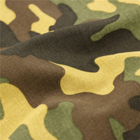 146Cm 20X16+70D/156X48 254Gsm 100% cotton strech twill Military Camouflage Green Printed Sequins Water Oil Resistant Camo Fabric