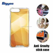 Bigyes anti gravity 4.5 5 5.5 inch mobile cell phone back cover case for android or iphone