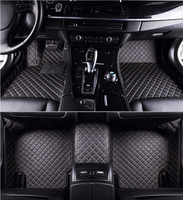 Full set of pvc car mat diamond shaped leather 3d car floor mat