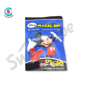 10g character popping candy with Lollipop & sticker