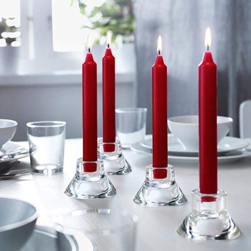 Flameless household white stick candle supplier from China candle factory