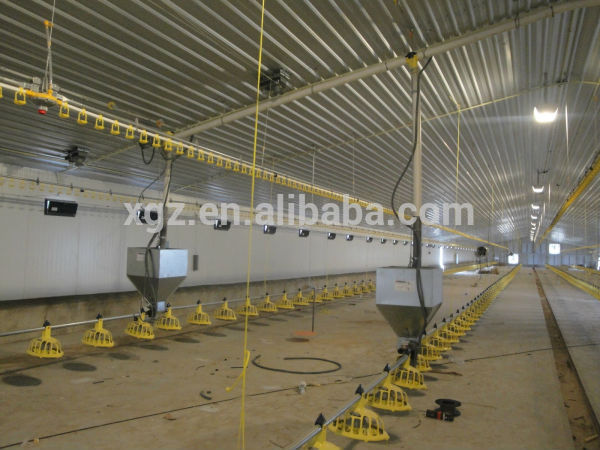 Automatic Equipment Chicken Egg House Galvanized Steel Poultry Farm Drawing Supplier