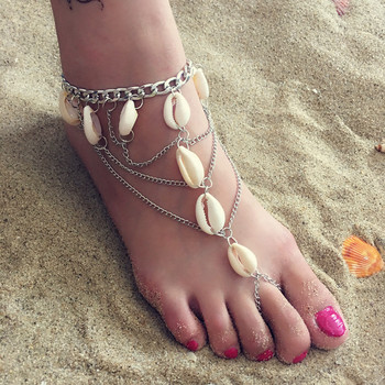 New Fashion Vintage Foot Beach Jewelry Barefoot Sandals Anklet Shell