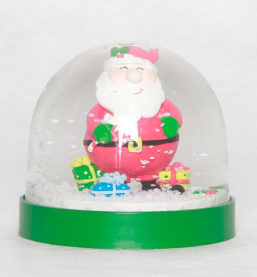Holiday gifts christmas figurines inside plastic snow globe snow ball