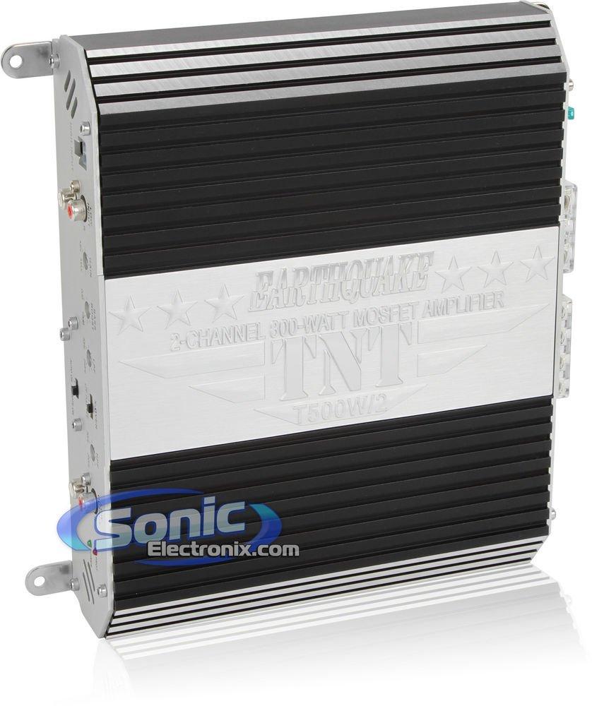 Earthquake Sound TNT Series T500W/2 2-Channel 800-Watt MOSFET Amplifier with Auto Sensing