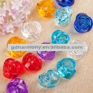 Single rose ML14 vase beads Acrylic transparent beads for DIY handmade beaded material wholesale