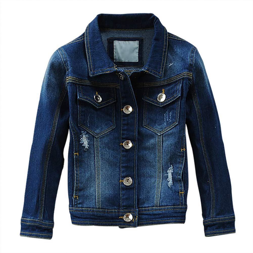 9c6787aa1afe3 SITENG Baby Boys  Girls Basic Denim Jacket Button Down Jeans Jacket Top  Fashion Blue Coat