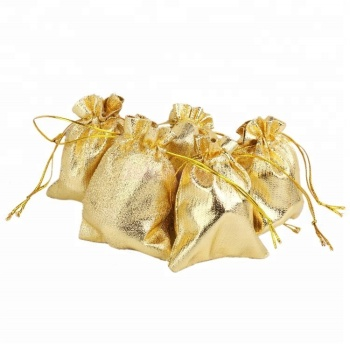 Promotional Gold Candy Ng Pouch Drawstring Bag Jewelry