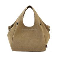 Fashion 100% ladies canvas clutch handbag tote bags