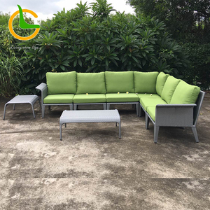 Waterproof 5 seater long patio sofa for hotel