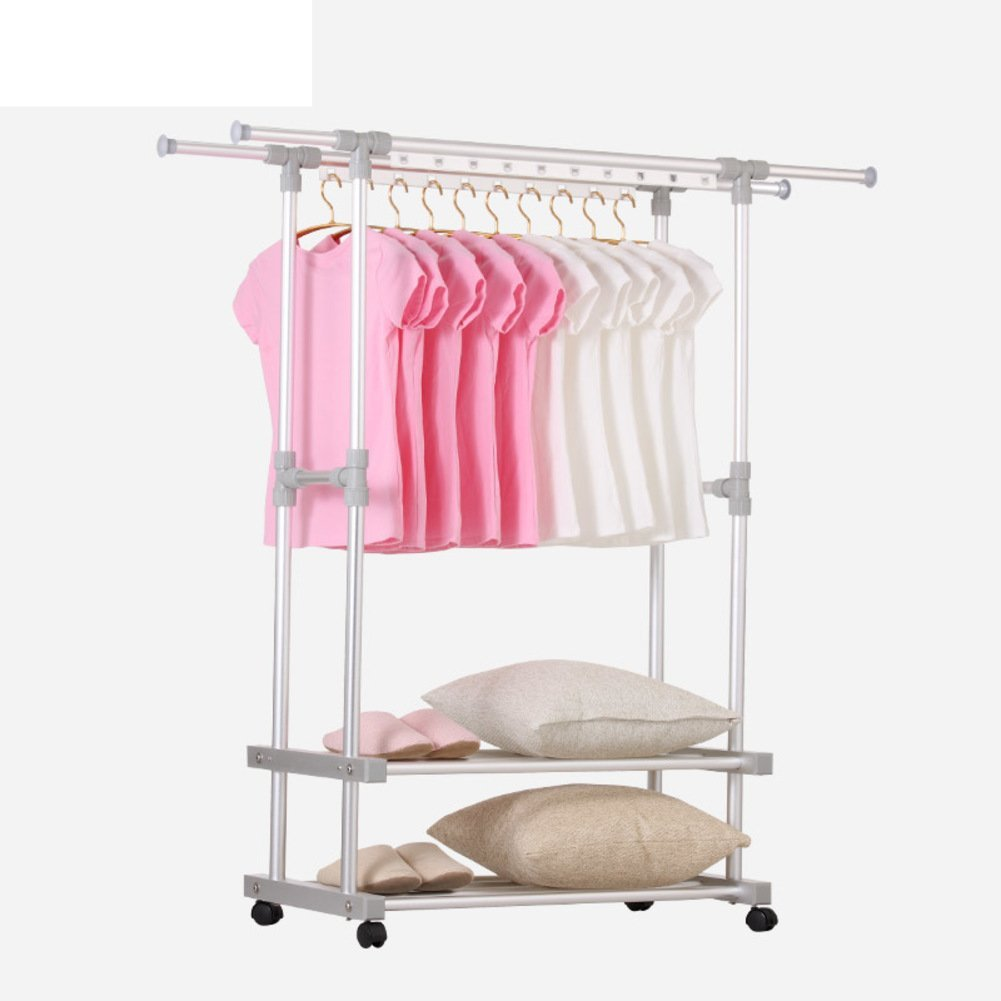 Clothes hanger floor to ceiling folding drying rack indoor cool drying rack two bar simple