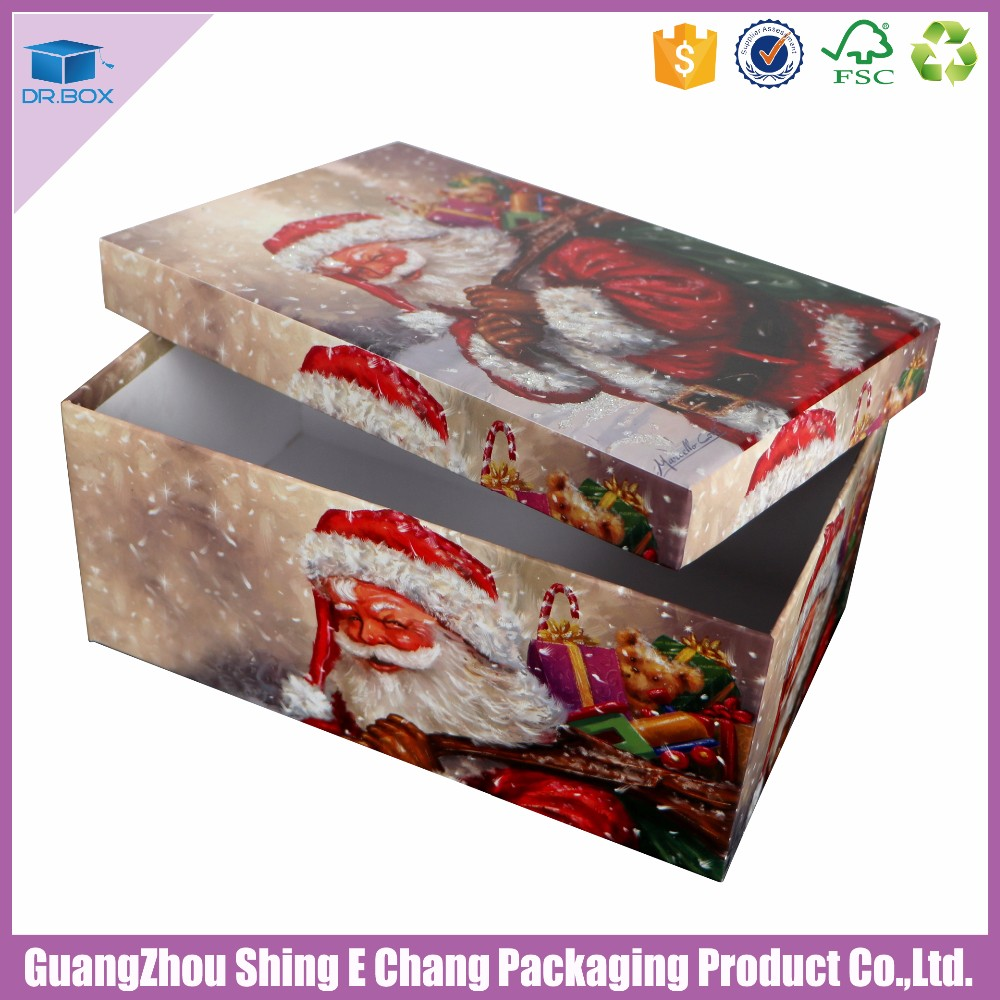Small Decorative Gift Boxes With Lids: New Custom Handmade Cmyk Printed Christmas Gift Boxes With