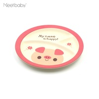 High quality baby popular durable dishes bamboo fiber kids plate