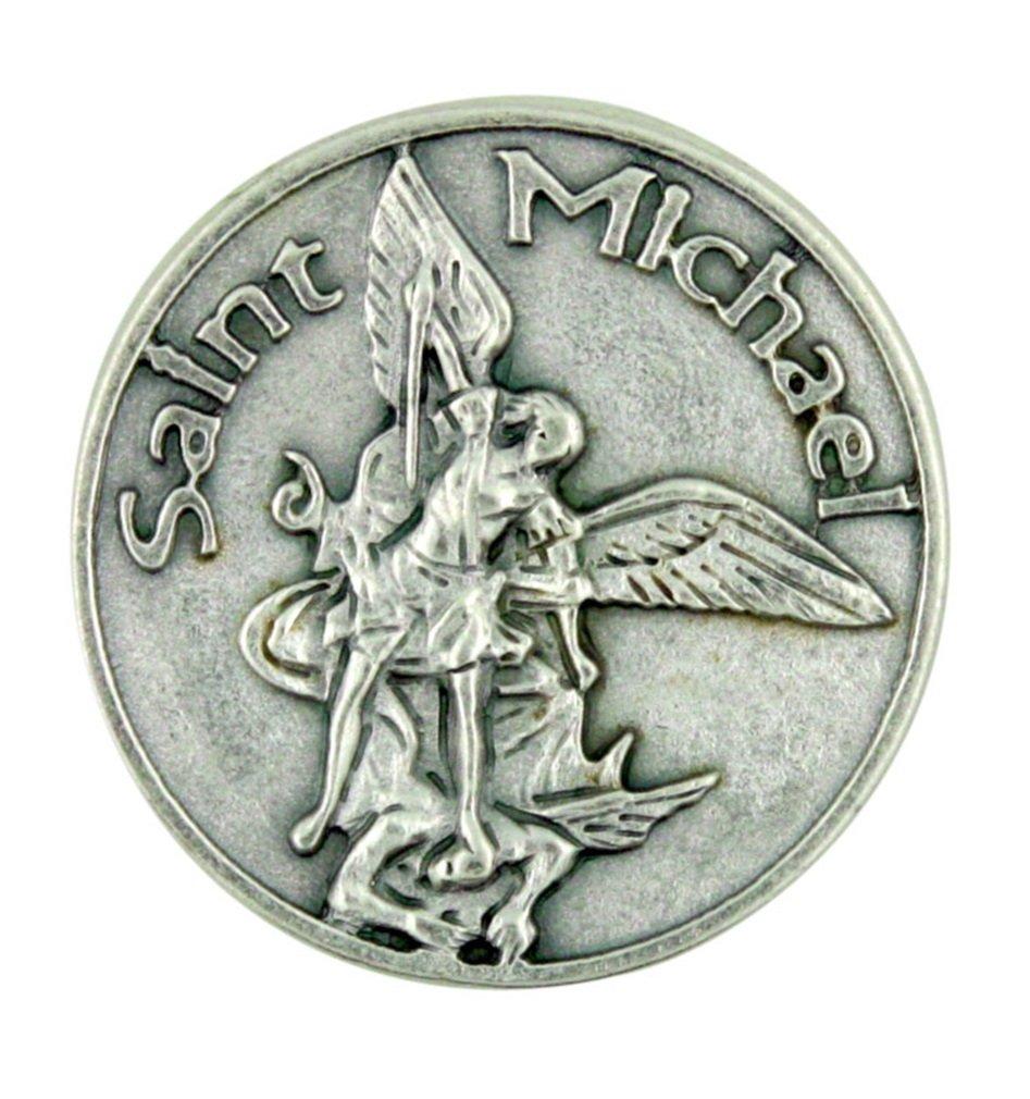 Patron Saint Police Officers//EMTs 1//2 x 1//4 14kt Gold St Michael The Archangel//Paratrooper