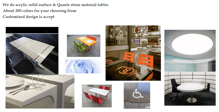 Guangzhou restaurant furniture artificial marble tables