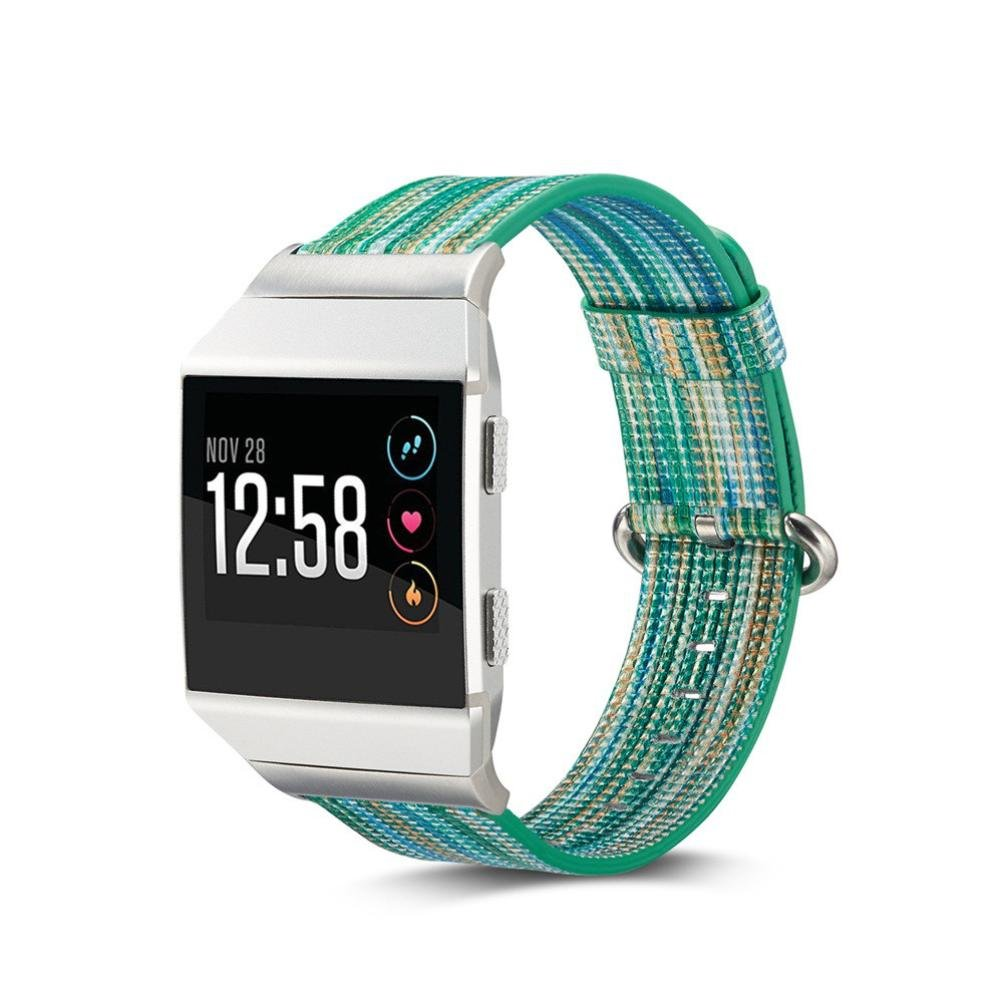 Fitbit Lonic Strap,AutumnFall 2017 New Fashion Rainbow Replacement Bands With Stainless Metal Clasp For Fitbit Lonic Smart Watch (G)