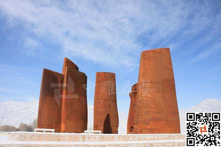 Rust Steel Memorial Sculpture,Cor Ten Steel Building Shell ...