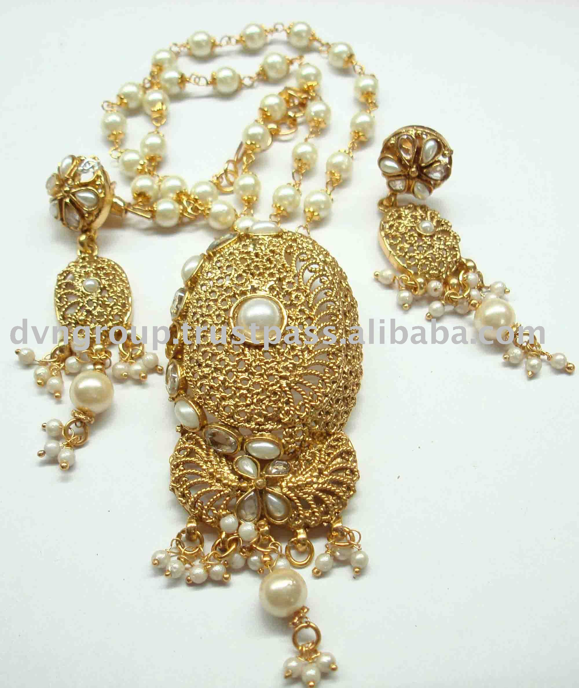 fashion indian south jewellery jewelry plated traditional set gold bollywood