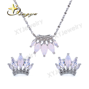 2017 Elegant women set jewelry earrings and necklace jewelry set for party