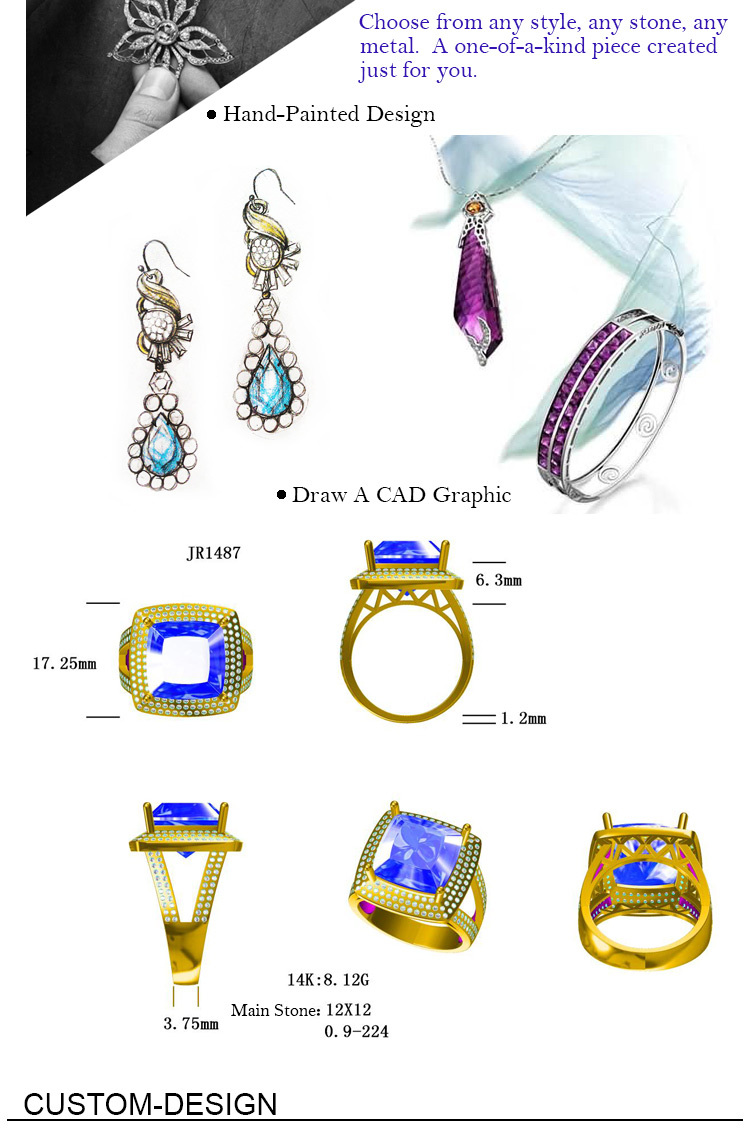 Custom Gold Ring Design Cad Jewelry Layout Design Real