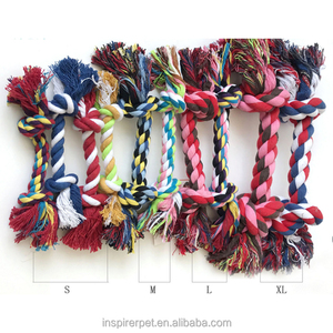 2 Knot Cotton Dog Chew Toy Pet Rope Toy