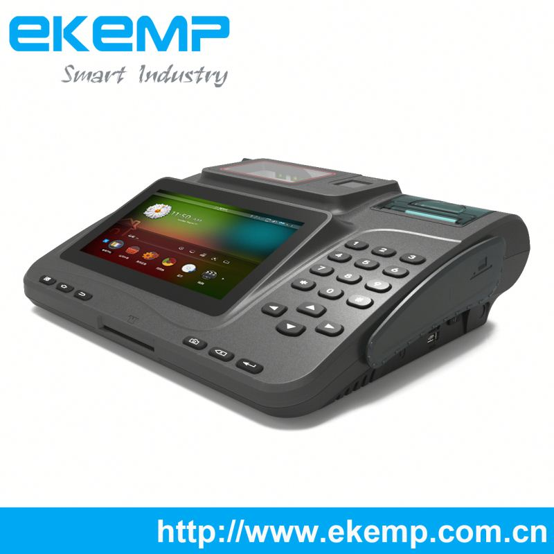 Staff Catering Payment Terminal 3G Supported Android 4.2.2 OS Machine