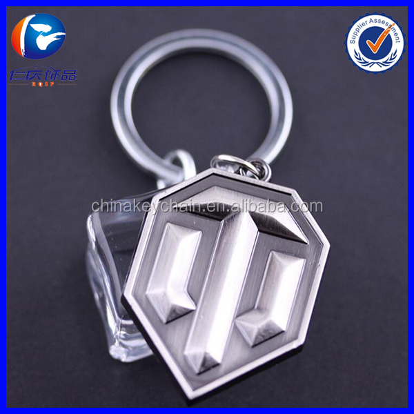 2016 Fashion Online Game World of Tanks WOT Metal Keychain