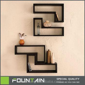 French Melamine Shelf DIY Set 2 Cube Shelf Wall Mounted Wooden Floating  Shelf Design