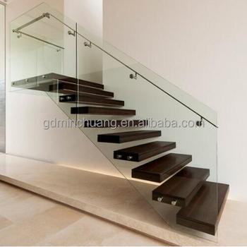 Interior Escalera Madera Oscura Escalera Barandilla De Acero ...