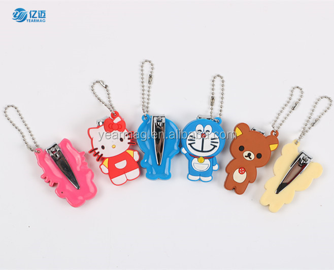 Nail Clippers Mini Cute Baby Nail Clipper Keyring Cartoon Finger Trimmer Scissors Nail Cutter With Hanging Function Keychain