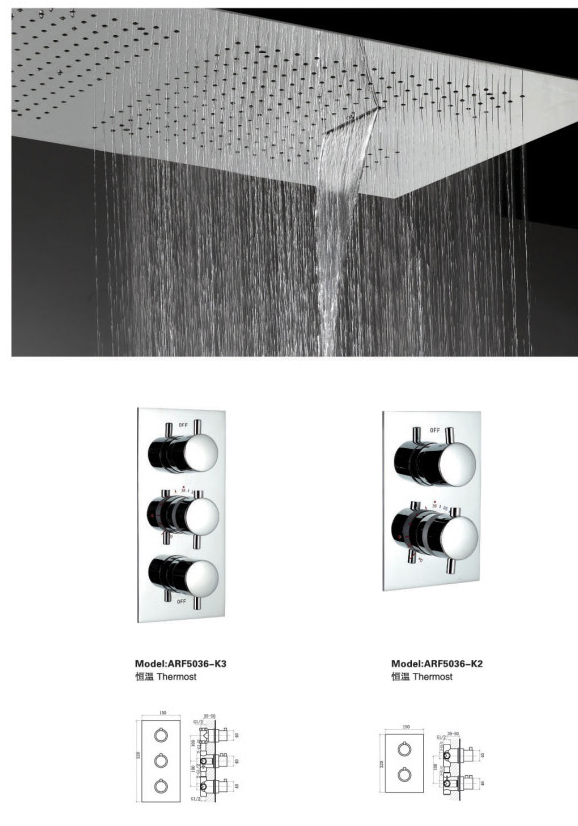 New arrival bathroom 16 inches stainless steel shower head BF-M1054