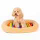 New design soft plush customized quick detachable dog bed