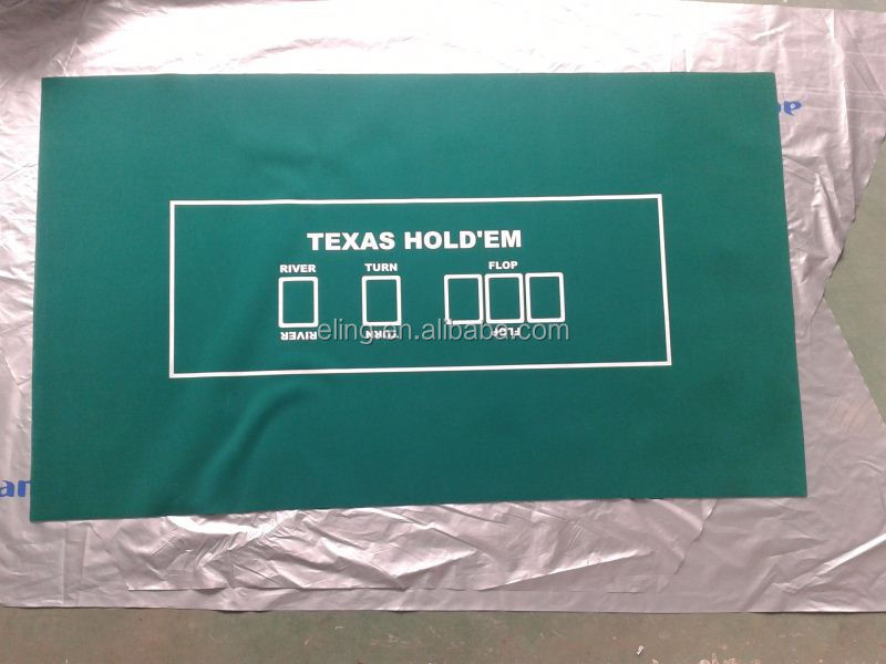 Poker Table Fabric ( casino equipment with flocking nylon and rubber materia)pu non slip dash pad