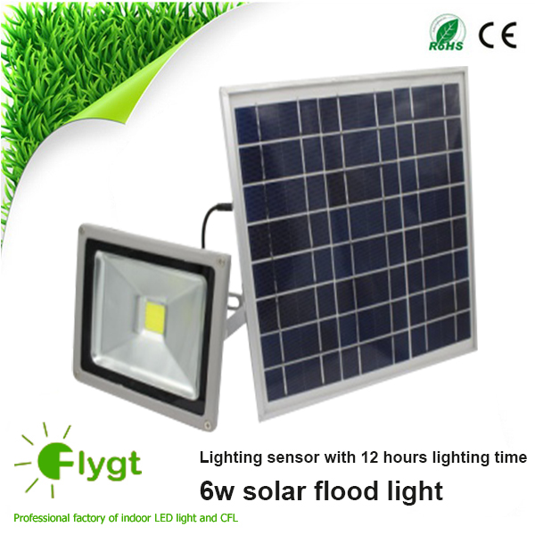 solar security flood lights/ solar emergency light / 6W integrated circuit LED 600LM