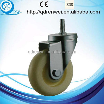 Double Ball Bearing Thread Stem Pp nylon Caster Buy Nylon Caster Ball Caster Nylon Wheel Nylon