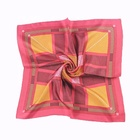 Wholesale fashion designer custom four seasons ladies satin silk polyester scarf