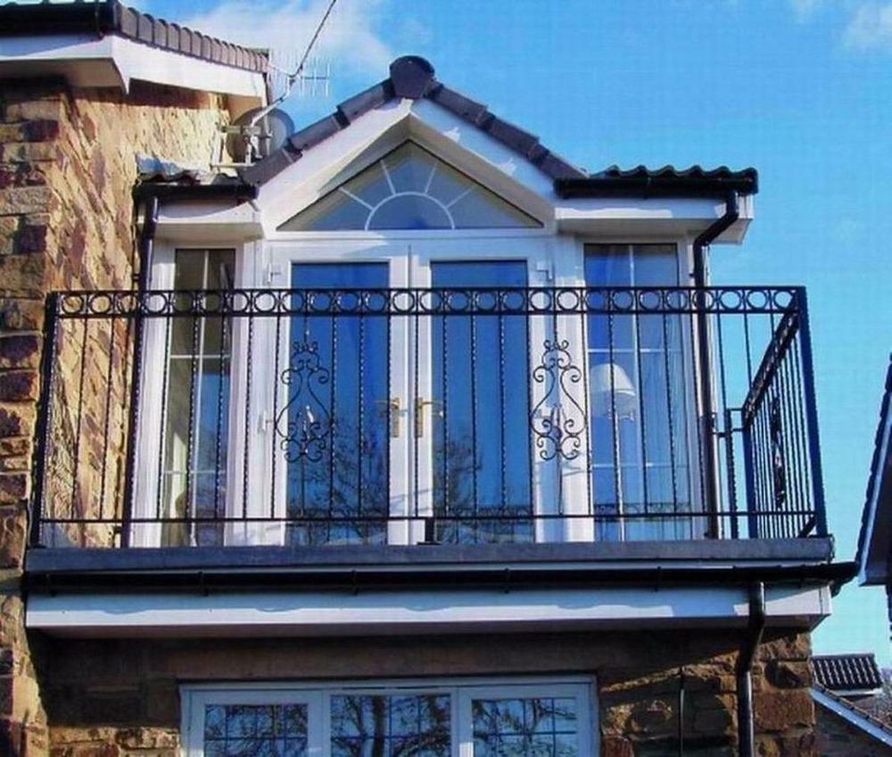 Smeedijzeren leuning ontwerp moderne ijzer trapleuningen gietijzeren baluster voor balkon - Ontwerp leuning ...