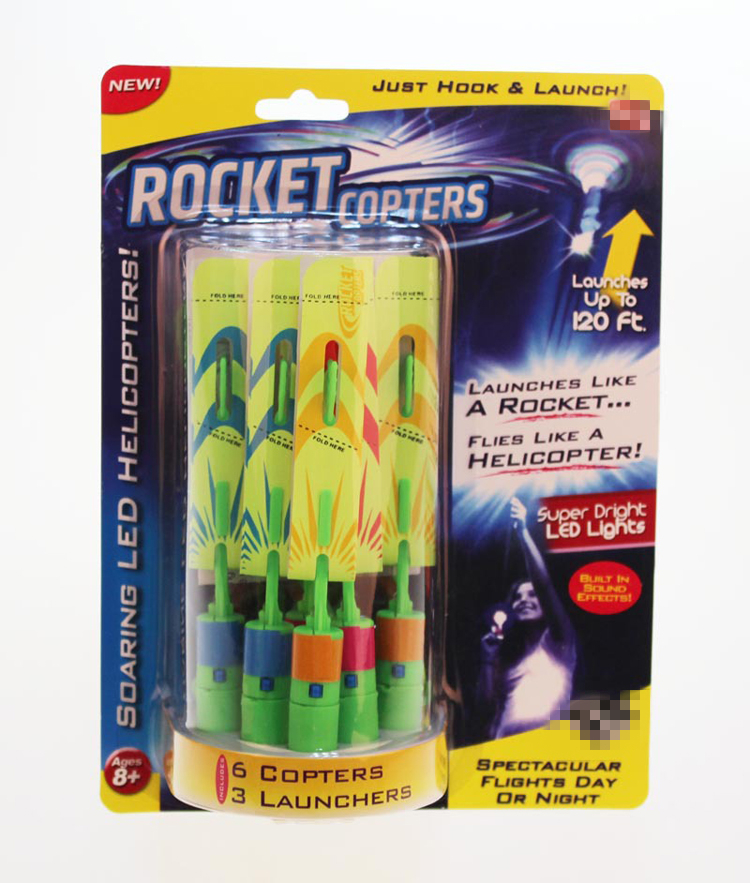 whistle sound led flicker mini rocket copters
