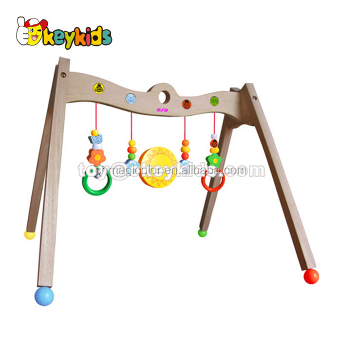 Wholesale interesting musical activity rattle toy wooden baby play gym used in cradle WJ278238