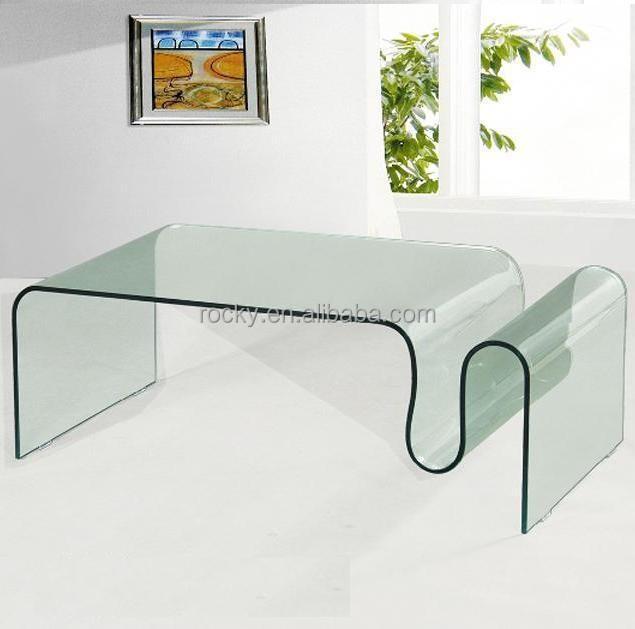 곡선/ 구부러진 유리 커피 테이블 현대적인 유형-커피 테이블 ...