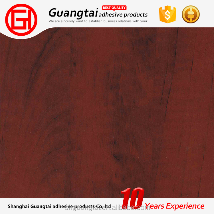 2017 new attractive design vacuum pressing wood grain pvc film with wipping popular in middle-east