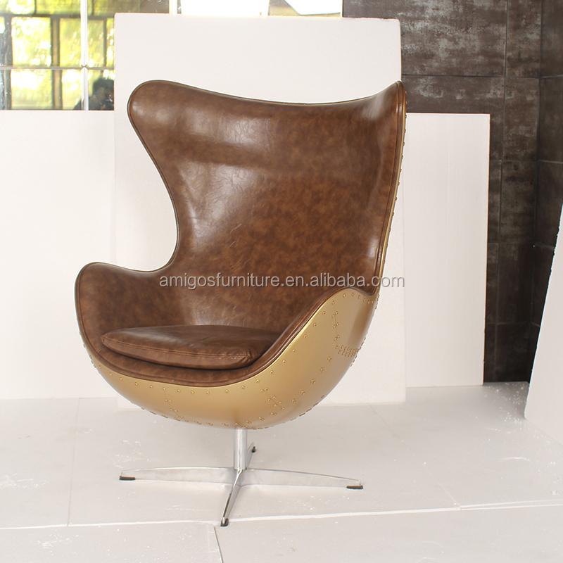 Golden Copper Aluminium Metal Egg Chair Buy Oval Egg