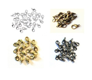 Wholesale Jewelry Accessory Parts Many Color Plating Custom Lobster Clasp Color Choice