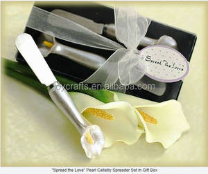 Wedding Return Gifts Spread the Love Pearl Calla Lily Spreader Tableware
