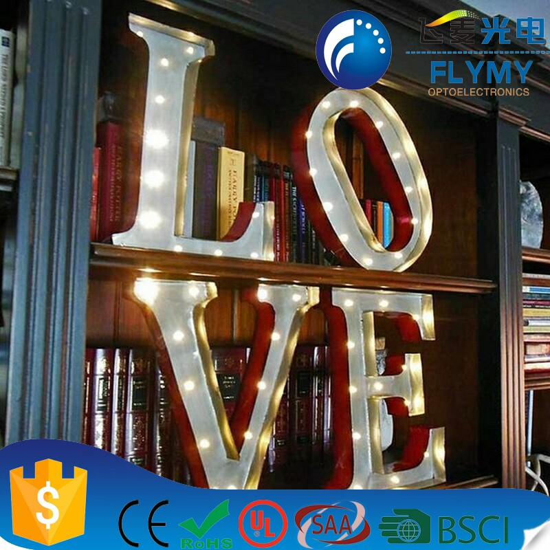 alibaba Wholesale Decorative Light up Metal Alphabet Letter Sign K Marquee LED Letter Lights Sign Party Wedding Decor