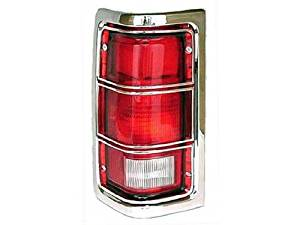 DRIVER SIDE TAIL LIGHT Dodge D100, Dodge D150, Dodge D250, Dodge D350, Dodge D400, Dodge D450, Dodge W100, Dodge W150, Dodge W250, Dodge W350 TAIL LAMP ASSEMBLY; LH; WITH CHROME TRIM