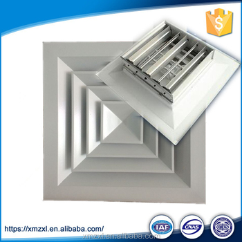 Hvac System Aluminium Square 4 Way Air Louvers Faced Ceiling Diffuser With Damper Buy Square 4 Way Diffuser Ceiling Diffuser Ceiling Diffuser With